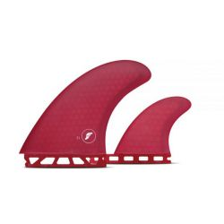 Futures T1 Honeycomb Twin + 1 Fin Set in Red