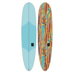 """Ocean and Earth The General Epoxy Soft  7'6"""" Longboard 2021 - Sky Blue - Full View"""