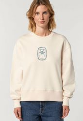 Sorted Surf Shop Relaxed Sweater 2021 - Cream - Front