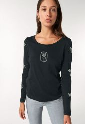 Sorted Surf Shop Long Sleeve Womens Top 2021 - Black - Front