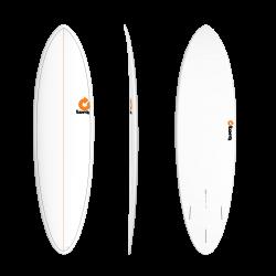 Torq Mod Funboard 6ft 8 Surfboard - White Pinline