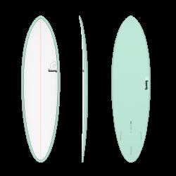 Torq Mod Funboard 6ft 8 Surfboard - Seagreen Pinline