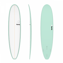 Torq Mini Long TET 8ft 0 Surfboard - Seagreen/Pinline