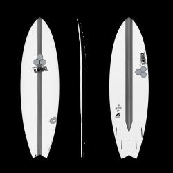 Torq X CI X-Lite Pod Mod 6ft 6 Surfboard - Black Pinline