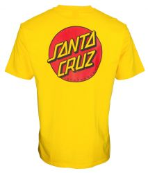 Santa Cruz 'Classic Dot Chest' Tee - 'Blazing Yellow'