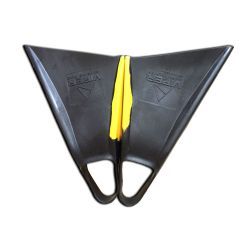 Science MS Viper Delta Bodyboard Fins - Black/Yellow UK 4-5