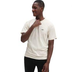 Vans Left Chest Hit Mens Logo Long Sleeve T-Shirt 2021 - Oatmeal - Front - Front