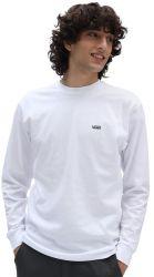 Vans Left Chest Hit Mens Logo Long Sleeve T-Shirt 2021 - White -Full View
