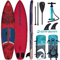 "Spinra Light 11'2"" ULT Paddleboard 2021 - Dark Red - Full View"