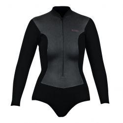Xcel 2mm Womens Long Sleeve Shorty Wetsuit 2021 - Black