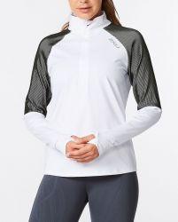 2XU Light Speed 1/2 Zip Womens Long Sleeve - White/Silver Reflective
