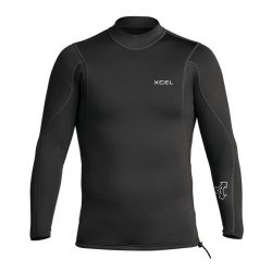 Xcel Axis Long Sleeve 2/1mm Mens Pull Over Wetsuit Jacket - Black