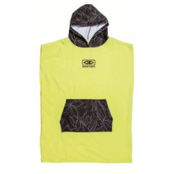 Ocean and Earth Hooded Junior Poncho 2021 - Lime - Full View