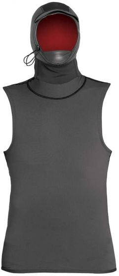 Xcel Insulate-X Hooded Vest - Graphite - Front
