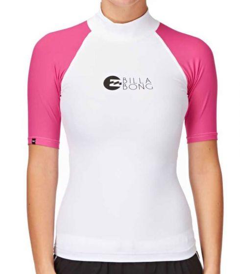 Billabong Logo Ladies Rash Vest - Aqua