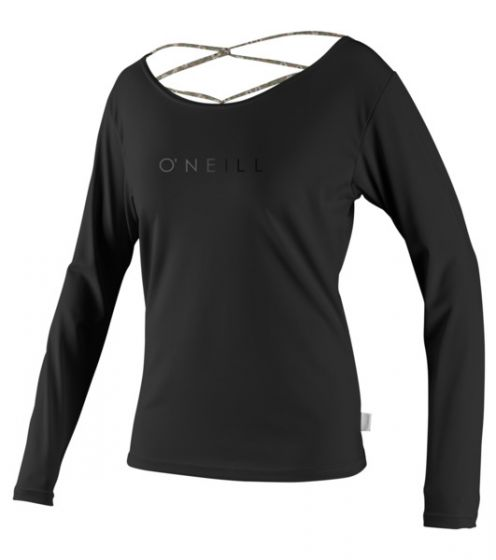 O'Neill WMS L/S Strap Back Rash Top - Black - 2016