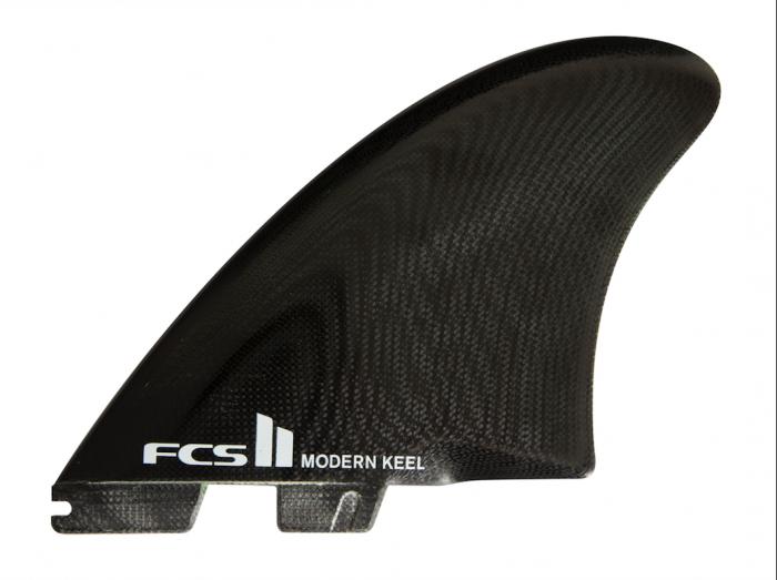 FCS II Modern Keel PG Twin Fins - Black